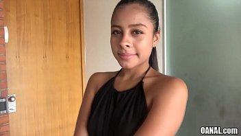 Colombian 18yo Maria Antonia Alzate takes big dick anally