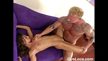 slender latina gets rammed hard by a muscled guy