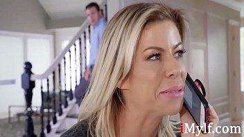 Blonde Nasty Mom Helps With Son's Confidence- Alexis Dawx