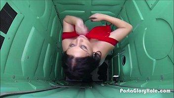 Porta Gloryhole Walmart worker gets slutty