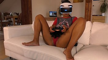 Isabel has a new game in her Playstation VR but she needs..